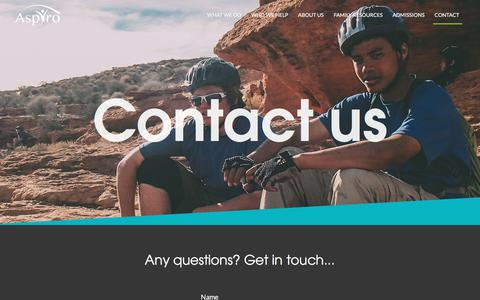 Contact - Aspiro Wilderness Adventure Therapy based in Utah