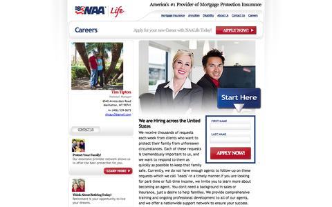 Screenshot of Jobs Page thetiptonagency.com - The Tipton Agency - captured Oct. 6, 2014