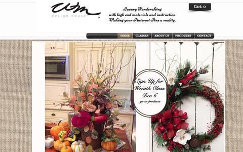 Screenshot of Home Page wmdesignhouse.com - WM Design House Bags and Crafts - captured Jan. 26, 2015