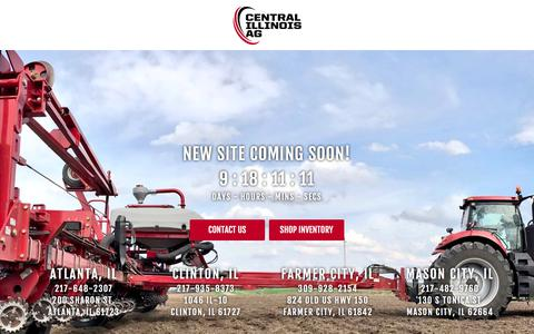 Screenshot of Home Page centralilag.com - Central Illinois AG - New & Used Agricultural Equipment, Service, and Parts across Illinois, in Atlanta, Clinton, Farmer City and Mason City - captured Oct. 22, 2017