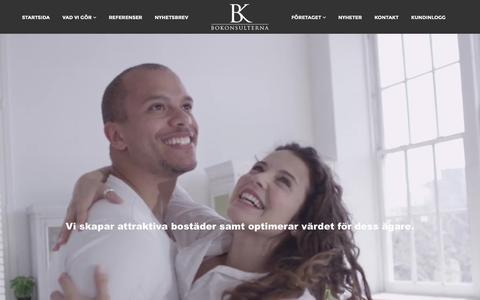 Screenshot of Home Page bokonsulterna.com - Attraktiva Bostäder & Fastigheter - Bokonsulterna AB - captured Feb. 7, 2016