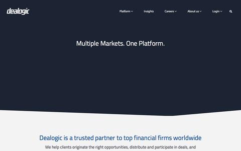Dealogic - a trusted partner to top financial firms worldwide