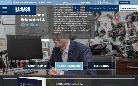 Screenshot of Services Page benmor.com - Family Mediator - Divorce Lawyer - Toronto Family Lawyer - captured Oct. 5, 2018