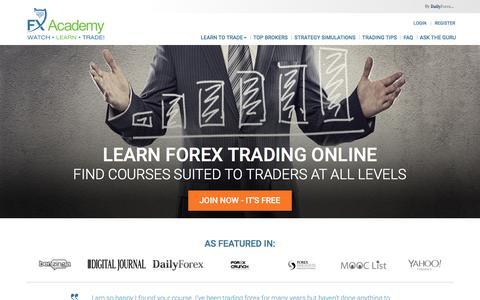 Screenshot of Contact Page fxacademy.com - Watch. Learn. Trade Forex - FX Academy.com - captured Jan. 8, 2016