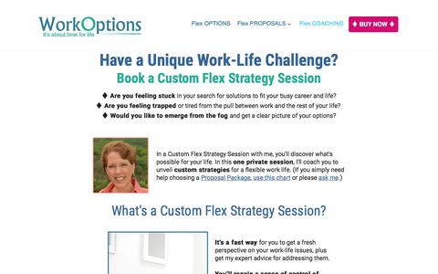 Screenshot of workoptions.com - Here's a Quick Way to Find Flexible Work Options to Fit Your Life - captured Nov. 24, 2017