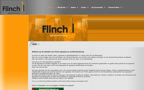 Screenshot of Home Page flinch.nl - flinch.nl - Home - captured Oct. 1, 2014