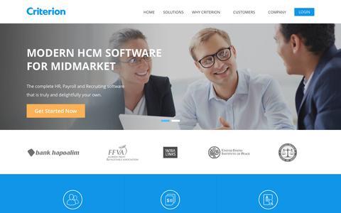 Criterion | Modern Platform for HR, Payroll and Recruiting