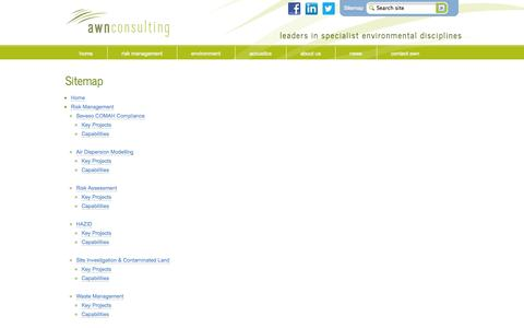 Screenshot of Site Map Page awnconsulting.com - Sitemap - AWN Consulting - captured Oct. 4, 2014