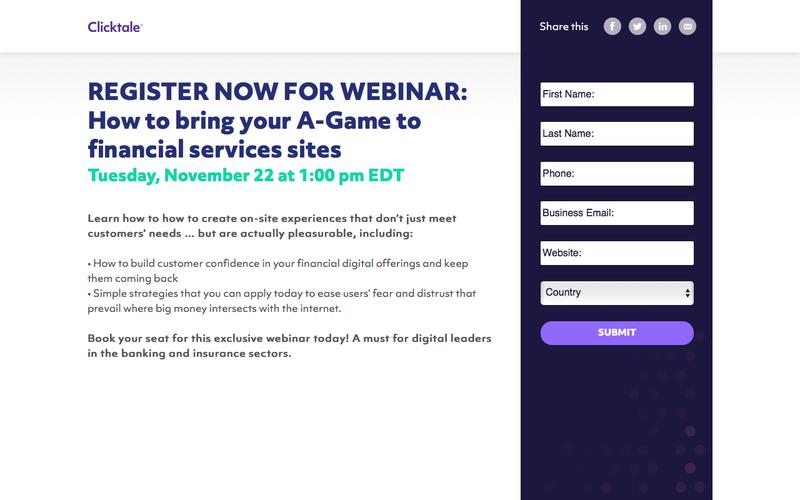 REGISTER NOW FOR WEBINAR: How to bring your A Game to financial services sites