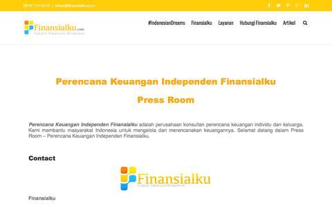 Screenshot of Press Page finansialku.com - Perencana Keuangan Independen Press Room - captured Jan. 18, 2016