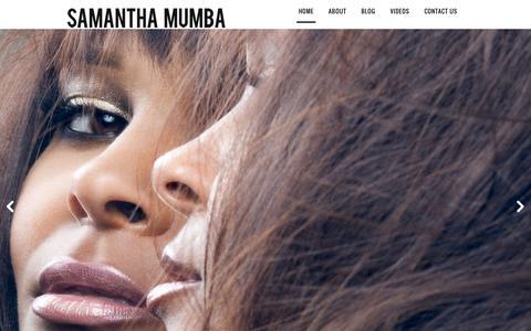 Screenshot of Home Page samanthamumba.net - Samantha Mumba -Samantha Mumba - captured June 19, 2015