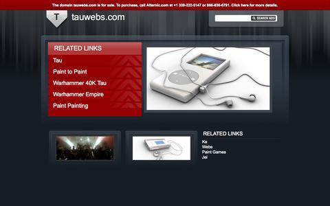 Screenshot of Home Page tauwebs.com - tauwebs.com - captured Oct. 9, 2014