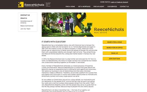 Screenshot of About Page reeceandnichols.com - About Us - captured Sept. 19, 2014