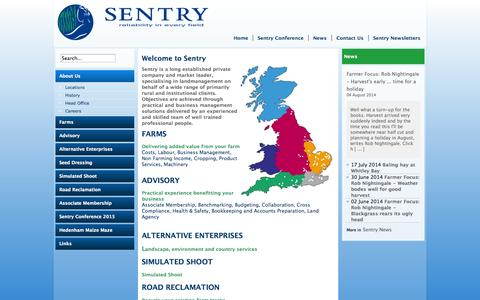 Screenshot of About Page sentry.co.uk - Welcome to Sentry | Sentry Company Information - captured Oct. 7, 2014
