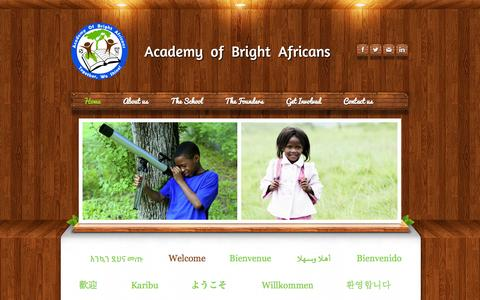 Screenshot of Home Page brightafricans.com - Academy of Bright Africans - Home - captured Oct. 4, 2014