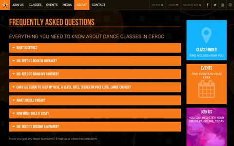 Screenshot of FAQ Page ceroc.com - Frequently Asked Questions | Ceroc UK - captured July 4, 2018
