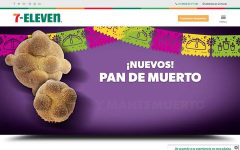 Screenshot of Home Page 7-eleven.com.mx - ¡Bienvenido! | 7-Eleven - captured Oct. 19, 2018