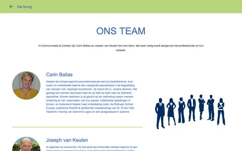 Screenshot of Team Page communicatiecontact.nl - Communicatie & Contact - Team - captured Nov. 10, 2018