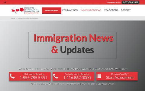 Screenshot of Press Page migrationlaw.com - Immigration News and Updates - MSK | Immigration Lawyers - captured Jan. 9, 2018