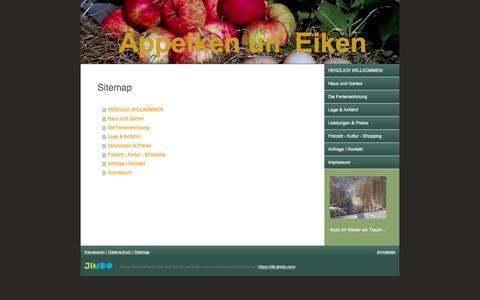 Screenshot of Site Map Page jimdo.com - Sitemap - aeppelkenuneikens Webseite! - captured Dec. 29, 2016