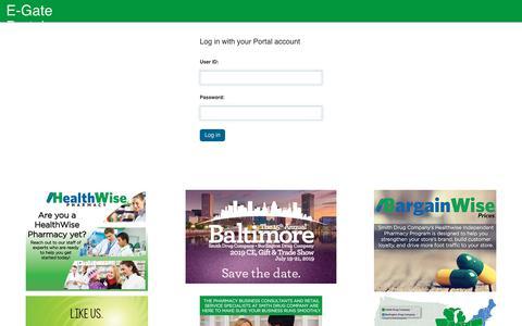 Screenshot of Login Page smithdrug.com - Login - captured Oct. 20, 2018