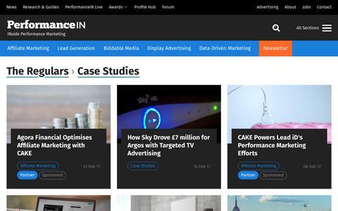 Screenshot of Case Studies Page performancein.com - Case Studies | PerformanceIN - captured May 16, 2017