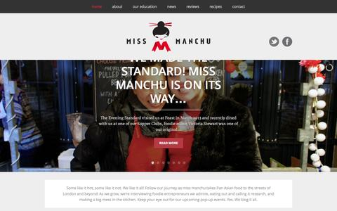 Screenshot of Home Page missmanchu.com - Miss Manchu - London food blog, restaurant reviews, street food - captured Oct. 7, 2014