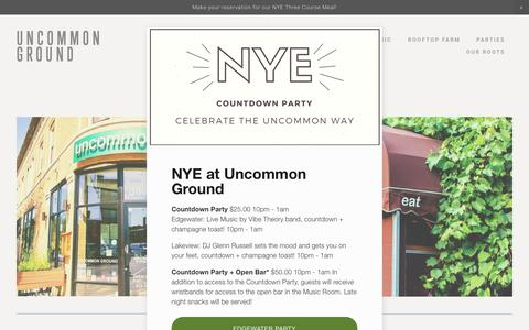 Screenshot of Contact Page Locations Page uncommonground.com - uncommon ground - organic restaurant Lakeview, Chicago — Uncommon Ground - captured Dec. 1, 2018