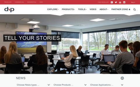 Screenshot of Press Page dnp-screens.com - News - dnp Screens - captured Sept. 23, 2018