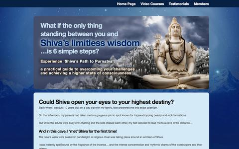 Screenshot of Products Page theshivaexperience.com - The Shiva Experience Course: Get The 6 sacred secrets of Shiva - captured Oct. 9, 2014