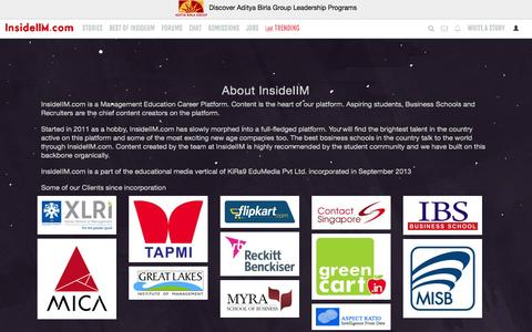 Screenshot of About Page insideiim.com - About insideIIM.com - InsideIIM.com - captured Oct. 22, 2015