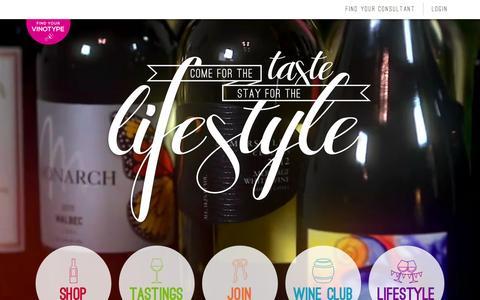 Screenshot of Home Page wineshopathome.com - WineShop At Home - captured Sept. 19, 2015