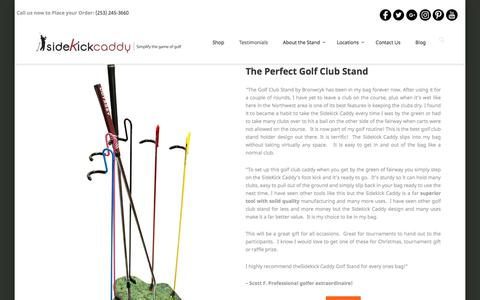 Screenshot of Testimonials Page bronwyck.com - Golf Club Stand Testimonials by Bronwyck - captured Aug. 4, 2018