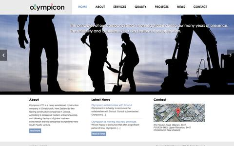 Screenshot of Home Page olympicon.co.nz - Olympicon – Steel Constructions - captured Sept. 30, 2014