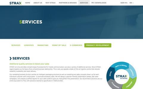 Screenshot of Services Page strax.com - STRAX - SERVICES - captured Nov. 5, 2014