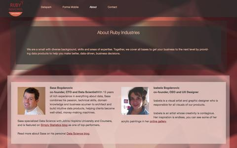Screenshot of About Page rubyind.com - About Ruby Industries   Ruby Industries - captured Dec. 2, 2016