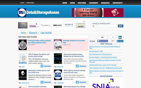 Screenshot of Case Studies Page storageasean.com - Data and Storage News from around South East Asia - captured Feb. 6, 2016
