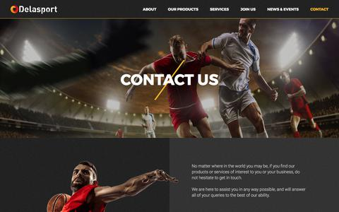 Screenshot of Contact Page delasport.com - Contact Us : Delasport - captured June 4, 2017