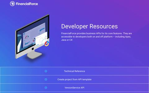 FinancialForce Developer home - Developer