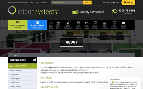 Screenshot of About Page interiasystems.com.au - Interia Systems says… - captured Sept. 19, 2018