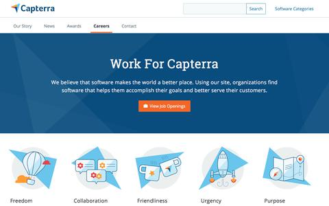 Screenshot of Jobs Page capterra.com - Capterra - Careers - captured Sept. 19, 2018