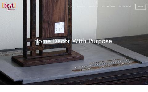 Screenshot of Home Page 2bdesign.biz - [beyt] by 2b design - captured Oct. 5, 2018
