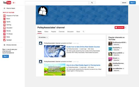 Screenshot of YouTube Page youtube.com - PolleyAssociates' channel  - YouTube - captured Oct. 22, 2014