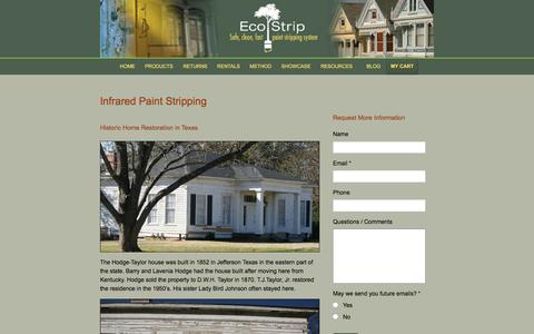 Screenshot of Case Studies Page eco-strip.com - Exterior House Paint Stripping for Case Studies | Eco-Strip - captured Jan. 25, 2016