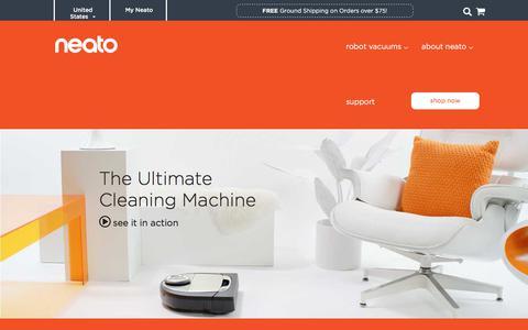 Screenshot of Home Page neatorobotics.com - Neato Robotics | Smart, Powerful, Connected Robot Vacuums - captured Jan. 15, 2020