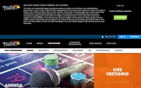Screenshot of hollandcasino.nl - Agenda - Holland Casino - captured Jan. 5, 2017