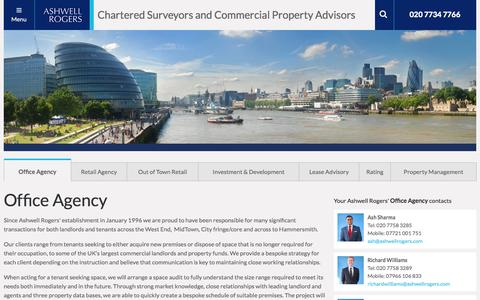 Screenshot of Services Page ashwellrogers.co.uk - Offices to Rent & Let London | London Office Space | Offices to let Mayfair & Soho  :: Ashwell Rogers - captured Sept. 30, 2014