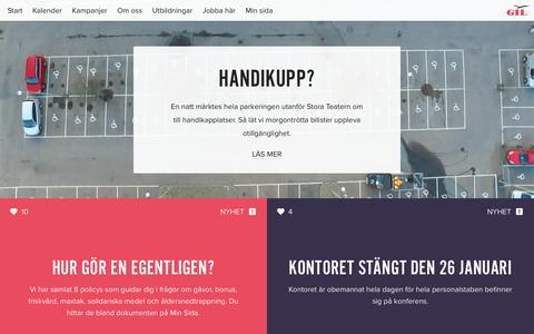 Screenshot of Home Page gil.se - Start | GIL: Göteborgskooperativet för Independent Living - captured Jan. 23, 2016