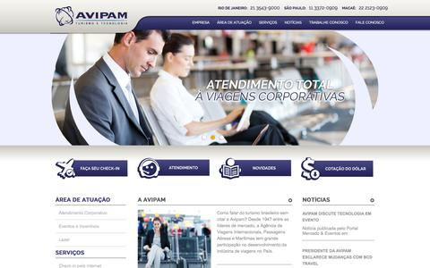 Screenshot of Home Page avipam.com.br captured Oct. 4, 2014