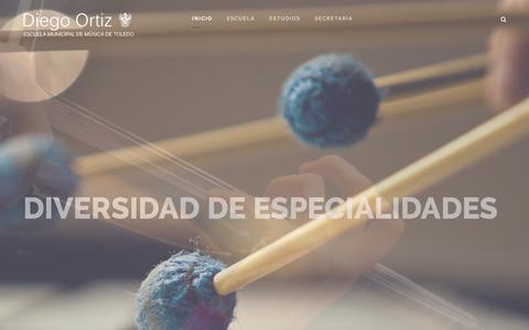 Screenshot of Home Page diego-ortiz.com - INICIO - captured March 29, 2016